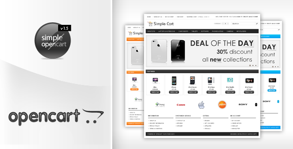 simplecart opencart template in 12 styles by settysantu themeforest