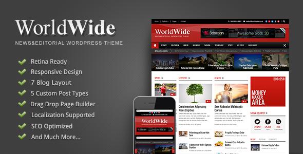 World Wide - Responsive Magazine WP Theme by GoodLayers | ThemeForest