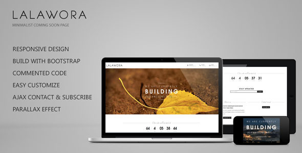 Lalawora responsive coming soon page by ridianur themeforest pronofoot35fo Choice Image