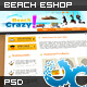 Holiday Beach Shop Website 01