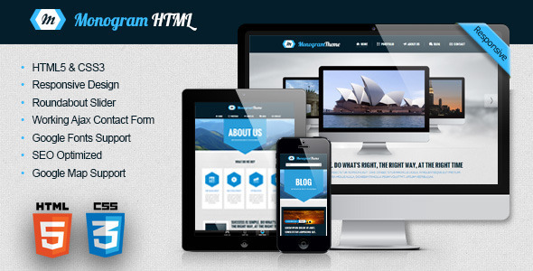 Monogram - Responsive HTML5 Template by ab-themes | ThemeForest