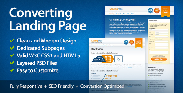 Converting Landing Page By ThemeMotive ThemeForest - High converting landing page templates