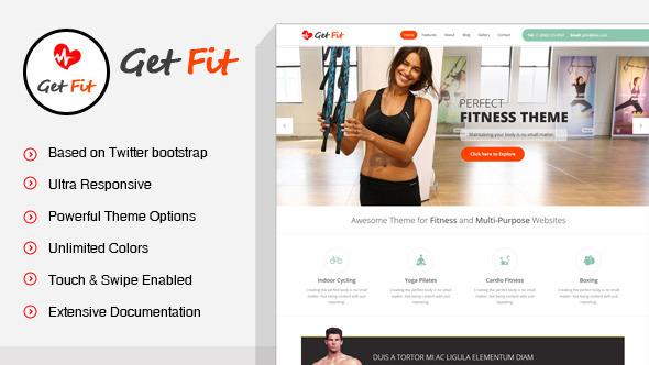 GetFit - Gym Fitness Multipurpose WordPress Theme by SkatDesign ...