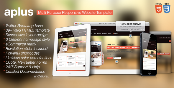 APLUS - Multi Purpose HTML5 Website Template by designingmedia ...