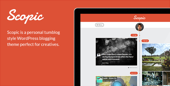 Scopic A Personal Timeline Tumblog By HeroThemes ThemeForest - Timeline blogger template