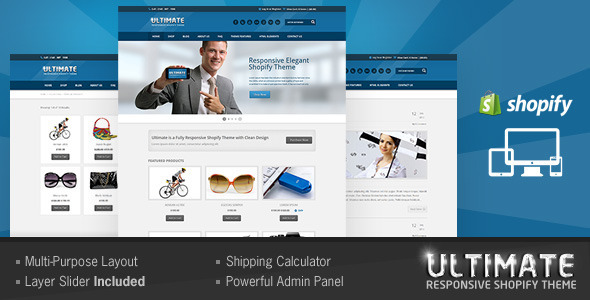 Ultimate Responsive Shopify Theme By BuddhaThemes ThemeForest - Shopify design templates