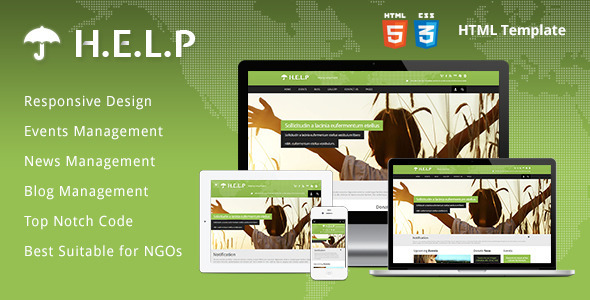 Help ngo html template by themebazaar themeforest for Html welcome page template