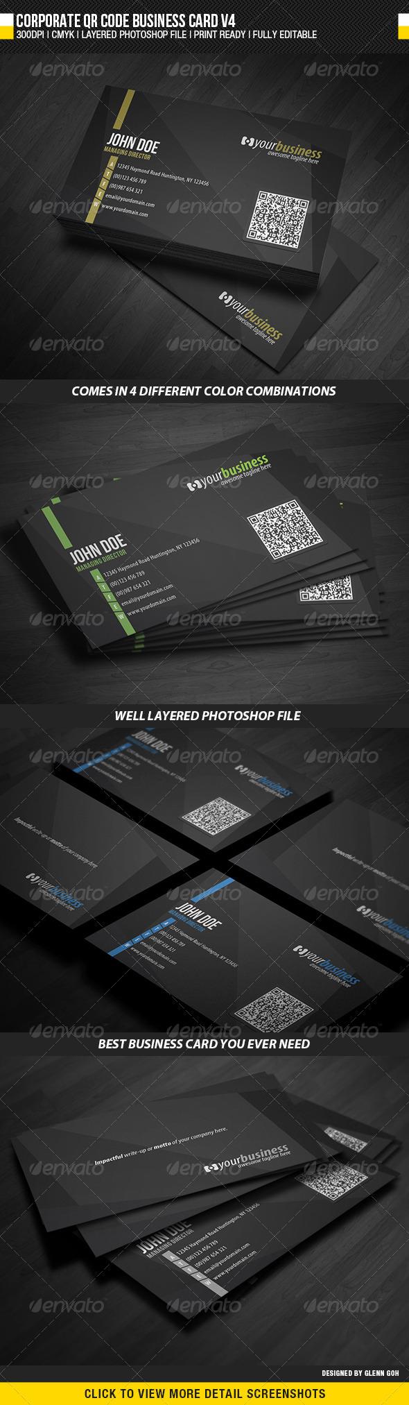 Qr Code Business Card Template