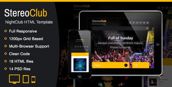 StereoClub / NightClub HTML Template by WPlook   ThemeForest