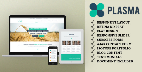 Plasma - One-Page Multi-Purpose HTML Template by JOGJAfile | ThemeForest