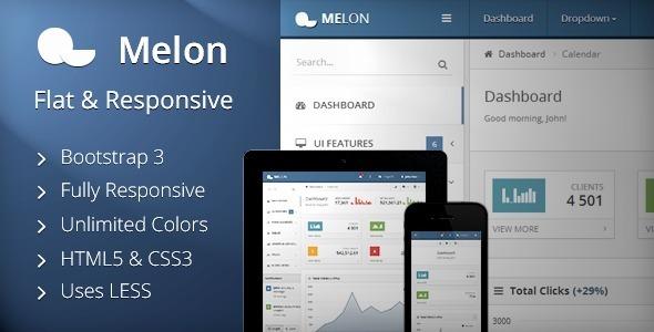 melon flat responsive admin template by stammi themeforest