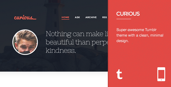 Curious - Responsive Tumblr Theme by 7Shift | ThemeForest