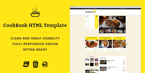 CookBook :: Retina Responsive Recipe HTML Template by MunFactory ...