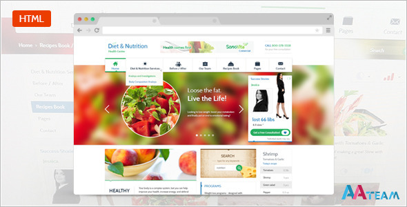 Diet & Nutrition Health Center - Responsive HTML5 by AA-Team ...