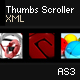 Horizontal Thumbnails Scroller AS3