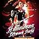 Halloween Crimson Party Flyer Template-Graphicriver中文最全的素材分享平台