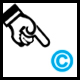 copyright logo always positioned bottom-right of browser