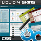 FlexiAdmin Control Panel Liquid 4 Skins