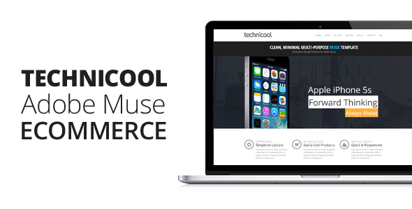Technicool muse ecommerce template by themejive themeforest technicool muse ecommerce template ecommerce muse templates friedricerecipe Images