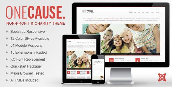 OneCause - Charity & Non-Profit Joomla Theme by webunderdog ...