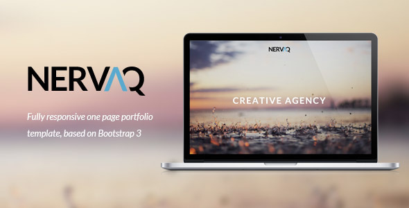 nervaq responsive one page template by g10v3 themeforest