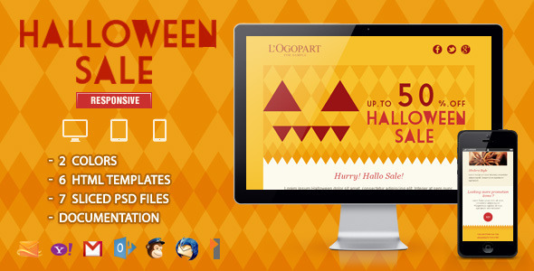 Halloween Sale - Responsive Email Template by ahmeng | ThemeForest