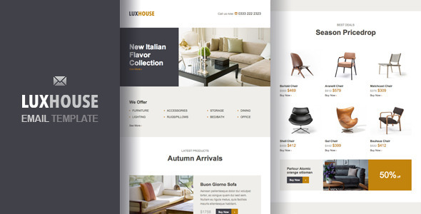 LuxHouse – eCommerce Email Template by zinchenko | ThemeForest
