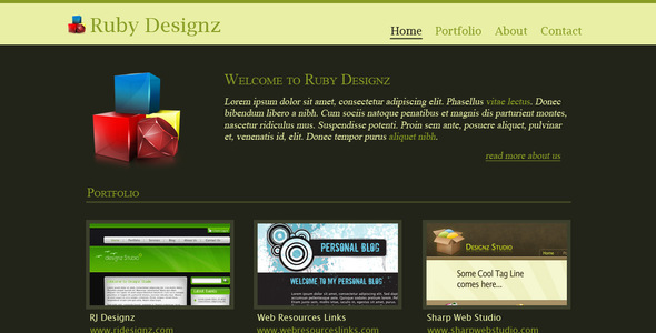 Ruby Designz Business Template By Rjoshicool Themeforest
