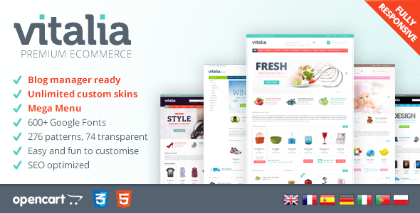 vitalia responsive opencart template by nine themes themeforest