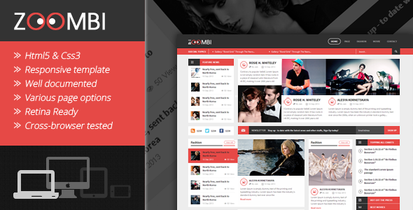 zoombi magazine html5 template by kopasoft themeforest
