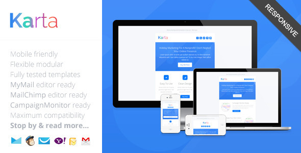 Karta minimalist responsive email template by saputrad themeforest pronofoot35fo Images