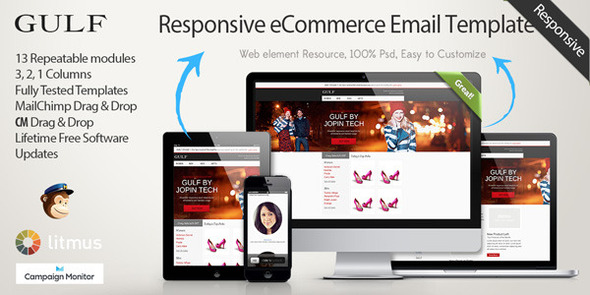 Gulf - Responsive eCommerce Email Template by jopin | ThemeForest