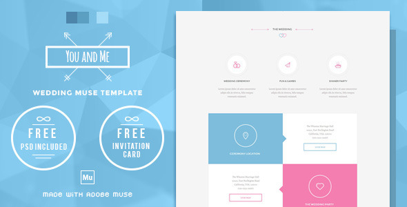You and me wedding muse template by wellmadepixel themeforest pronofoot35fo Image collections