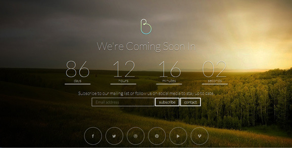 Bersua responsive coming soon page by duststone themeforest pronofoot35fo Image collections