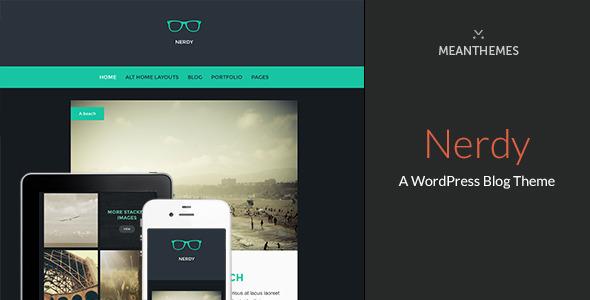 Nerdy A Wordpress Blog Theme By Meanthemes Themeforest