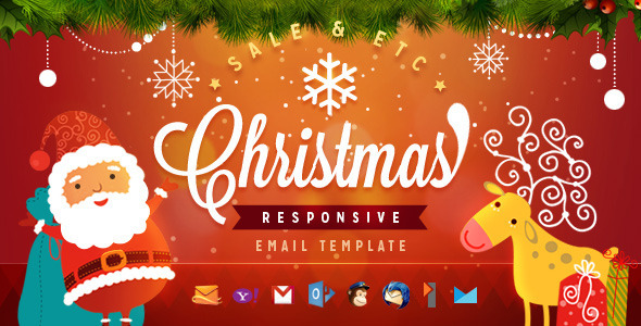 Christmas responsive email template by ahmeng themeforest christmas responsive email template email templates marketing maxwellsz