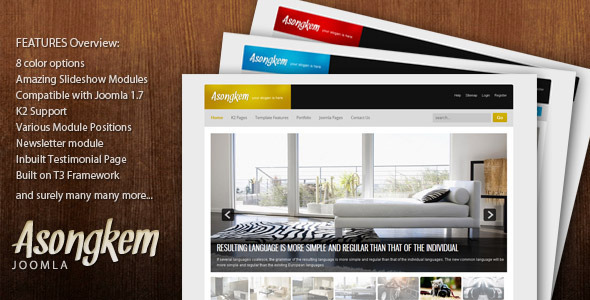Asongkem - Premium Joomla Template by themesonic | ThemeForest