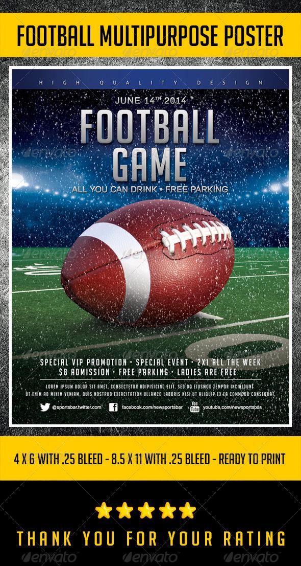 Football tournament flyer