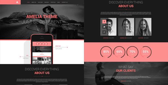 Amelia - One Page PSD Portfolio Template by miciana1417 | ThemeForest