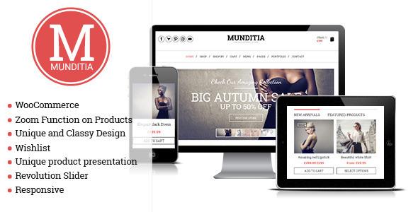 Munditia - Responsive Ecommerce WordPress Theme by gljivec | ThemeForest