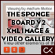 THE SPONGE BOARD VERSION 2 XML IMAGE & VIDEO GALLERY with category and tag sorting