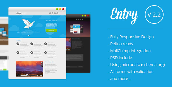 Entry - Startup Landing Page by multifour | ThemeForest