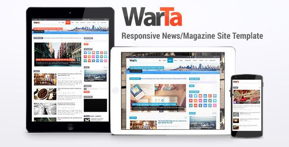 warta news magazine site template by friskamax themeforest. Black Bedroom Furniture Sets. Home Design Ideas