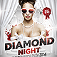 Diamond Night Flyer Template-Graphicriver中文最全的素材分享平台