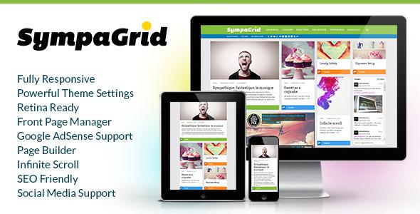 SympaGrid - Responsive Grid WordPress Theme by pukkathemes | ThemeForest