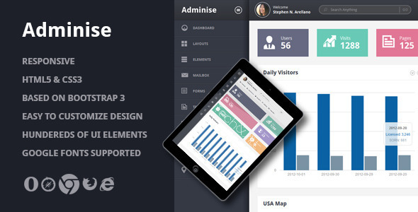 adminise corporate admin panel template admin templates site templates