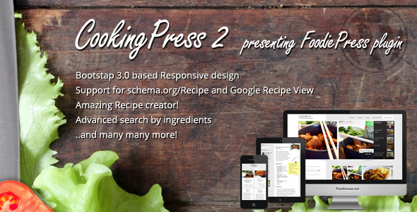 Cookingpress recipe food wordpress theme by purethemes cookingpress recipe food wordpress theme by purethemes themeforest forumfinder Gallery