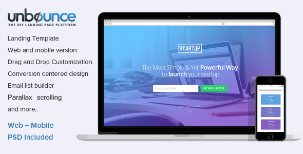 Unbounce Landing Page Template for Startups by surjithctly | ThemeForest