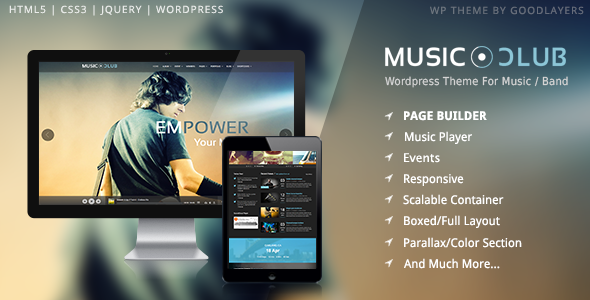 Music Club - Music/Band/Club/Party Wordpress Theme by GoodLayers ...