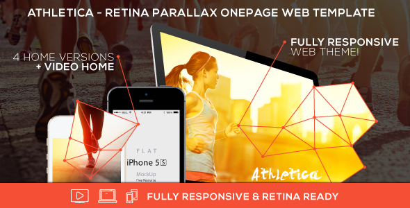Athletica - Retina Parallax OnePage Web Template by AVAThemes ...